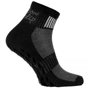 1 2 4 ou 6 paires de Chaussettes Noir Antidérapantes, ABS, Idéal pour les Sports: Yoga, Fitness, Pilates, Arts Martiaux, Danse, Gymnastique, Trampoline Tailles. 36-46, le Coton Respirant de la marque Rainbow-Socks image 0 produit