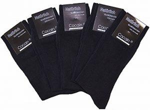 10 à 100 paires Chaussettes noires de marque Cocain 100% coton de la marque cocain image 0 produit