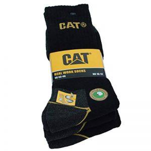 3|6|9|12|24 Paires Chaussettes de travail CAT Caterpillar pour hommes Prévention des accidents renforcées au talon et à la pointe Coton d'excellente qualité de la marque Caterpillar+CAT image 0 produit