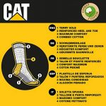 3|6|9|12|24 Paires Chaussettes de travail CAT Caterpillar pour hommes Prévention des accidents renforcées au talon et à la pointe Coton d'excellente qualité de la marque Caterpillar+CAT image 2 produit