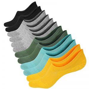 3 ou 6 Paires Chaussettes Courtes Femmes Chaussettes Basses en Coton Respirantes Antidérapantes pour Mocassins Plats Sneaker de la marque RedMaple image 0 produit