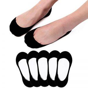 5 Paires Protège-Pieds Chaussettes Femmes chaussettes basses Socquettes Invisibles avec grip silicone pour Sneakers et Mocassins de la marque RedMaple image 0 produit