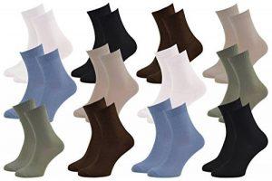 6 9 ou 12 paires de chaussettes Midi en BAMBOU pour Chaque Jour, Délicates Antibactériennes Respirantes Douces Confortable Unisexe Multicolore Pack tailles 36-46 Certificat d'OEKO-TEX, Made en Europe de la marque Rainbow-Socks image 0 produit