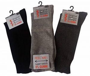 6 paires de chaussettes de santé homme sans caoutchouc XXL, taille 39-58, sans ceinture, convenant aux diabétiques, taille extra large de la marque Wowerat image 0 produit