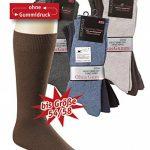 6 paires de chaussettes de santé homme sans caoutchouc XXL, taille 39-58, sans ceinture, convenant aux diabétiques, taille extra large de la marque Wowerat image 1 produit