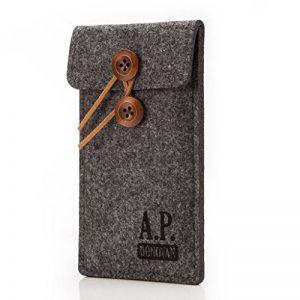 A.P. Donovan - Cases - Chaussette pour téléphone Mobile en Feutre - Sacoche Sleeve Tissu - Étui pour téléphone Portable - Gris, iPhone 7 Plus de la marque A-P-Donovan image 0 produit