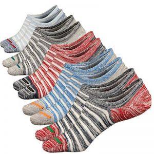 Acewin Socquettes de Sport Pour Homme Basses Chaussettes Décontractées Coton Sneaker invisible No-Show Socquettes Anti glisse de la marque Acewin image 0 produit