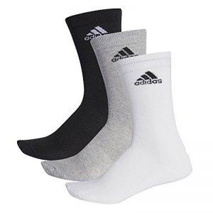 Adidas performance crew lot de 3 paires de chaussettes thin Multicolore Noir/gris/blanc, lot de 3 de la marque adidas image 0 produit