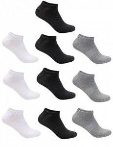Aibrou Lot de 6/8/10 paires de socquettes Chaussettes Hommes Pour La Vie quodienne, Comfortables et Respirantes, Socquettes de Sport Unisex coton et élasthanne Chaussettes de Sport de la marque Aibrou image 0 produit