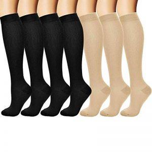 Arteesol 7 paires Chaussettes de Compression Sportive pour Hommes et Femmes de la marque arteesol image 0 produit