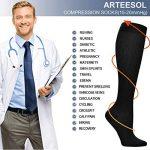 Arteesol 7 paires Chaussettes de Compression Sportive pour Hommes et Femmes de la marque arteesol image 3 produit