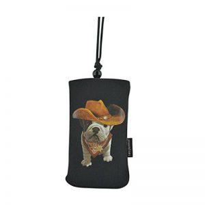 Bigben Teo Jasmin Cowboy Etui Chaussette en Coton pour Smartphone Noir de la marque Bigben image 0 produit