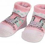 BRUBAKER - Chaussettes bébé - Lot de 4 Paires - Fille 0-12 Mois - Coffret cadeau Naissance/Baptême - Fun Sneaker/Baskets - Rose de la marque Brubaker image 2 produit