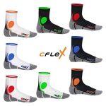 CFLEX - Lot de 4 paires de chaussettes de sport - protection contre les chocs - respirantes de la marque CFLEX image 1 produit
