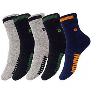 Chaussettes athlétiques pour hommes, Chaussettes de sport à 5 paires Comfort Trainer, Chaussettes en coton, antibactériennes et désodorisantes de la marque PMIWAO image 0 produit