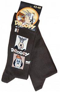 Chaussettes homme Licence- Offre spéciale Pack de 2 paires: 1 paire motif + 1paire uni- (Droopy, Garfield,Simpsons,Calimero...) (43/46, Droopy marron) de la marque Disney+socks. image 0 produit