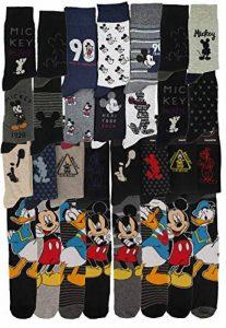 Chaussettes Homme Mickey Disney Confort et fantaisie en coton -Assortiment modèles photos selon arrivages- de la marque Disney+socks. image 0 produit