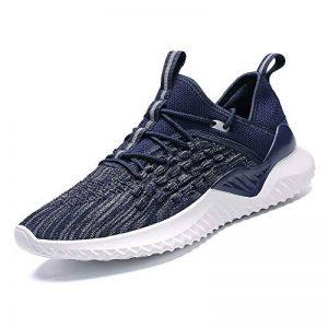 Chaussures de Marche Hommes Slip on Chaussettes Sneakers de Course Knit Sport Jogging Baskets Low Top Soft Fitness Respirant Mode Noir Bleu Gris Vert Rouge Blanc 39-44 de la marque PAMRAY image 0 produit