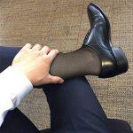 Cityelf Chaussettes Hautes Été chaussettes habillées Hautes de Soie Ultra-mince pour Homme 3 Paires de la marque Cityelf image 3 produit