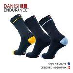 DANISH ENDURANCE Chaussettes de Laine Mérinos, respirantes, contrôle de l'humidité, monochromes et colorées, toute l'année, idée cadeau pour homme et femme, fabriquées dans l'UE de la marque DANISH-ENDURANCE image 1 produit