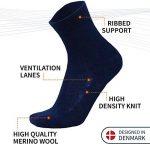 DANISH ENDURANCE Chaussettes de Laine Mérinos, respirantes, contrôle de l'humidité, monochromes et colorées, toute l'année, idée cadeau pour homme et femme, fabriquées dans l'UE de la marque DANISH-ENDURANCE image 3 produit