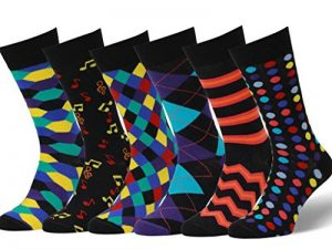 Easton Marlowe Lot 6 Chaussettes Fantaisie Homme Coton Peigné, Qualité Européenne de la marque Easton-Marlowe image 0 produit