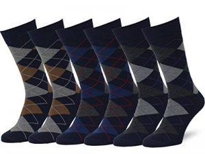 Easton Marlowe (Lot de 6 Chaussettes Homme Coton Peigné, Unies, Motifs Subtils, Argyle de la marque Easton-Marlowe image 0 produit