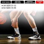 Emooqi Chaussettes de Sport Antidérapantes, Chaussettes Antidérapantes pour l'escalade Football Tennis Fonctionnement - Noir/Blanc - EU 38~49 de la marque Emooqi image 4 produit