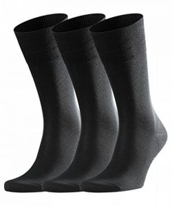 FALKE Tiago 3-Pack Chaussettes Homme Noir (Black 3000) 39/40 (Taille fabricant:39-40) 3lot de3 de la marque Falke image 0 produit