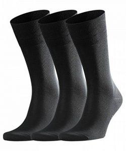 FALKE Tiago 3-Pack Chaussettes Homme Noir (Black 3000) 43/44 (Taille fabricant:43-44) 3lot de3 de la marque Falke image 0 produit