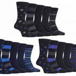 Farah - 5 Paires Homme Bambou Chaussettes avec Rayées et Pois Motif de la marque Farah image 3 produit