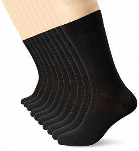 FM London - Chaussettes Homme - Pack de 10 - Coton - Confortable et Respirante - Taille 39/45 - Noir de la marque FM-London image 0 produit