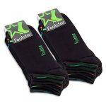 Footstar Lot de 8 paires de socquettes de sport avec effet néon - unisexe - bon maintien grâce au bord-côte en élasthanne confortable - qualité celodoro de la marque Footstar image 3 produit