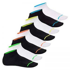 Footstar Lot de 8 paires de socquettes de sport avec effet néon - unisexe - bon maintien grâce au bord-côte en élasthanne confortable - qualité celodoro de la marque Footstar image 0 produit