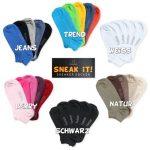 Footstar SNEAK IT! Socquettes Unisexes pour vous et lui - Tailles 35-50 - Assortiment de Couleurs Tendance - 10 paires de la marque Footstar image 1 produit