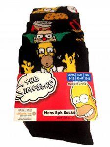 Générique The Simpsons - Chaussettes basses - Homme Noir Noir 40-42 de la marque Générique image 0 produit