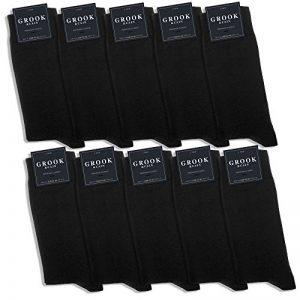 Grook & Cain - 10 paires de chaussettes Premium Classic - en coton/style habillé/certifié Oekotex - pour homme/femme - noir - pointures 35 à 50 de la marque Grook++Cain image 0 produit