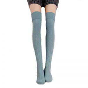 HITOP 1Paire de chaussettes hautes pour chaussettes montantes fille Hold Up Rétro élèves Knitting Chaussettes de sport de la marque HITOP image 0 produit