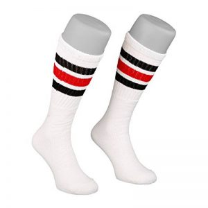 Inch skatersocks 19 tube chaussettes chaussettes hautes rayures à l'ancienne blanc de la marque Skatersocks image 0 produit