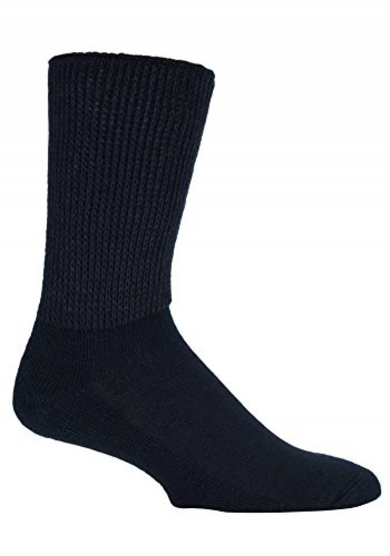 6 paire de chaussettes hommes diabétiques sans caoutchouc-Cousu Main-Coton-Beige