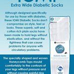 IOMI - 3 paires chaussettes diabetique confortables sans élastique en noir et blanc en 4 tailles de la marque IOMI image 3 produit