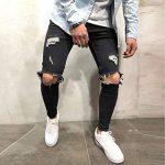 ITISME Homme Pantalons Jeans Homme, Automne Et Hiver Mode Casual Jeans Biker Skinny Stretchy Enfilé Slim Fit Denim Trou Pantalons de la marque ITISME+Homme image 1 produit