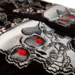 JAPONMANIA - Chaussettes Tabi mi-mollet - Du 39 au 43 - Motifs de crânes - Noir, Taille unique, Rouge de la marque JAPONMANIA image 3 produit