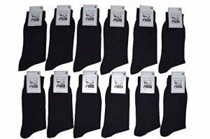 KARL LOVEN Lot de 3/6/12 paires de chaussettes FINES COUTURES pieds sensibles en Fil d'Ecosse 100% Coton - Taille - 39-42/43-46 de la marque KARL LOVEN image 0 produit