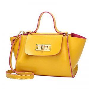 ♬LILICAT Vintage femmes en cuir frappé couleur Turn Lock Crossbody Bag Sac à bandoulière sac à main Turn Lock en cuir à la main épaule sac à bandoulière de la marque LILICAT-Sac image 0 produit