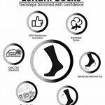 LK LEKUNI Chaussettes Homme Femme - Pack de 10 - Noir Coton Confortable Respirantes OEKO-TEX 100 de la marque LK+LEKUNI image 4 produit