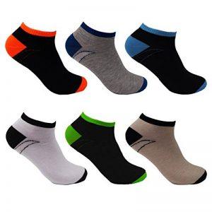 LK Lot de 6/12 chaussettes basses Socquettes homme multicolore coton 92231 de la marque LK image 0 produit
