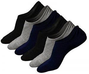 LOFIR Chaussettes invisibles pour hommes Chaussettes basses en coton Chaussettes de course athlétiques Chaussettes Crew Anti-Slid pour hommes, pointure 39-45, 3/6 paires de la marque LOFIR image 0 produit