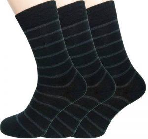Loonysocks, 3 paires de nos meilleures chaussettes en laine douce Ascona Merino pour l'homme d'affaires. Des chaussettes noires et grises pour homme. de la marque Loonysocks image 0 produit