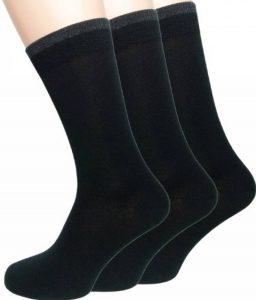Loonysocks, 3 paires de nos meilleures chaussettes en laine douce Ascona Merino pour l'homme d'affaires. Des chaussettes noires pour homme. de la marque Loonysocks image 0 produit